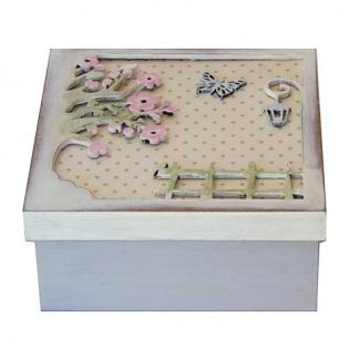 Caja con relieve para decorar