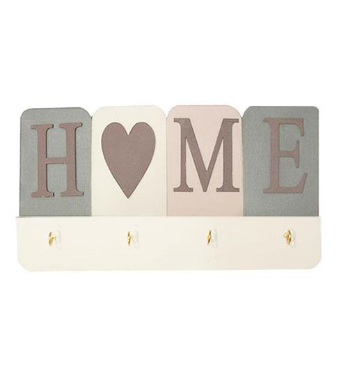 Cuelga llaves de madera HOME
