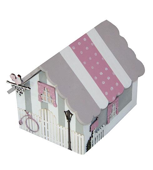 Caja en forma de casa