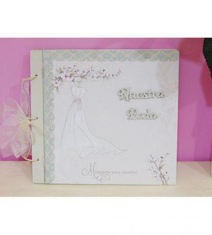 Álbum de fotos boda de madera