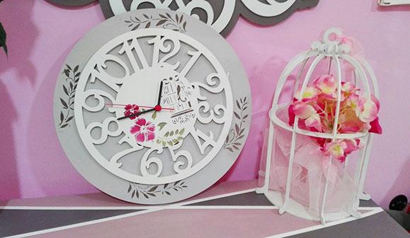 Reloj de pared original cuadrado