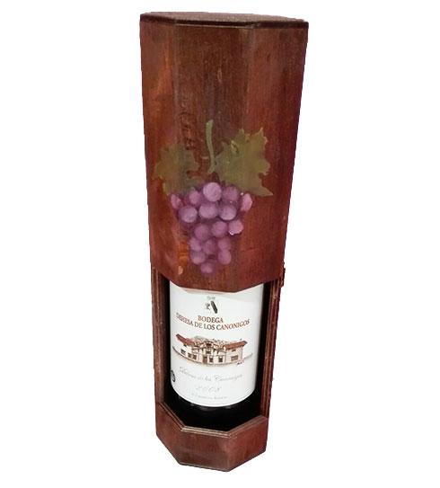 Botellero de madera ideal para guardar tu botella de vino - Botelleros de madera para vino ...