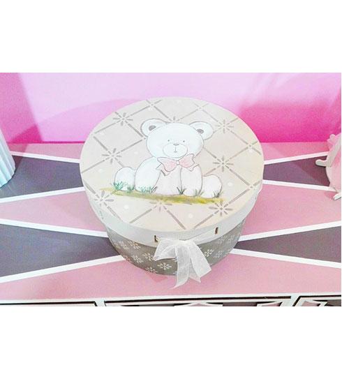 Caja para bebé de madera