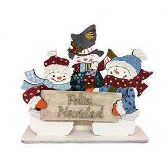 Decoración muñecos de nieve