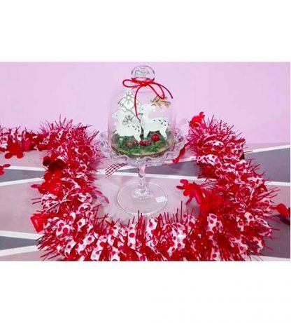 Copa de cristal con renos