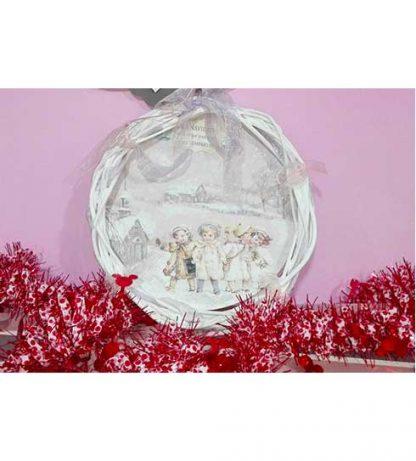 Corona de Navidad blanca
