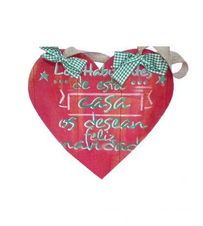 Corazón de Navidad para colgar
