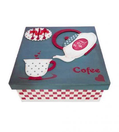 Caja de madera para el café