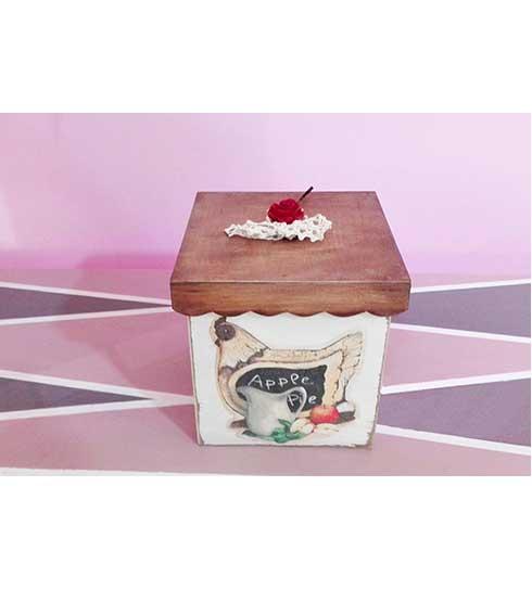 Caja para la cocina de madera amplia y hecha a mano ana - Cajas para cocina ...