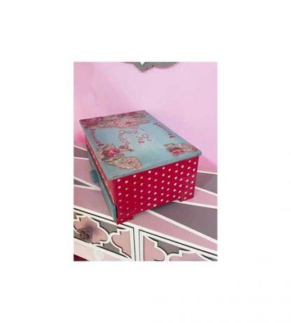 Caja de madera con departamentos