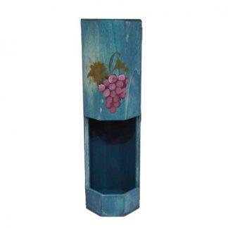 Botellero de madera vintage