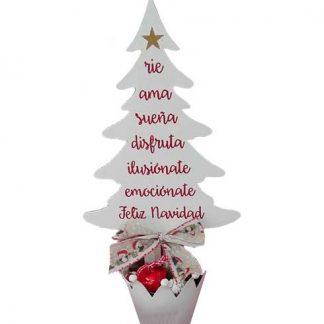 Árbol de Navidad con palabras bonitas
