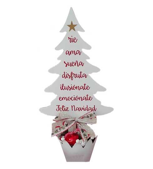 Rbol de navidad con palabras bonitas y de madera ana y arte - Objetos de navidad ...