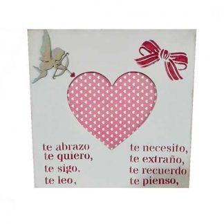 Marco de fotos romántico para San Valentín