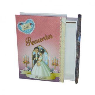 Caja libro para bodas: Recuerdos