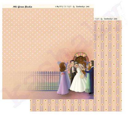 "Papel scrapbooking ""Mi gran boda"" La iglesia"