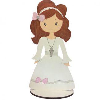 Muñeca de madera para la primera comunión