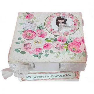 Caja de comunión para niña
