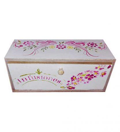 Caja para guardar infusiones