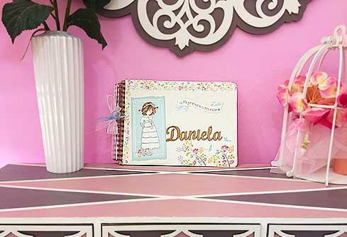 Libro de firmas de niña personalizado