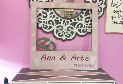 Photocall para las bodas personalizado