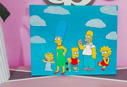 Cuadro de Los Simpsons