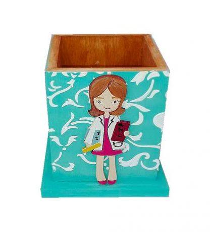 Cubilete de madera para profesoras