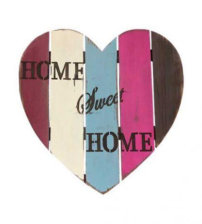 Corazón de madera para el hogar