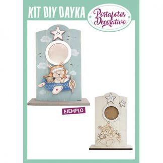 KIT DIY DAYKA PORTAFOTO CONEJO EN AVION