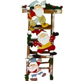 Escalera con Papá Noel