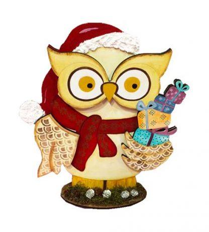 Búho navideño para tu hogar