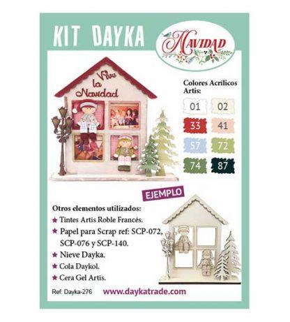 Kit DIY Dayka Portafotos Navidad ventana con niños