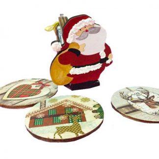 Trineo de Papá Noel con posavasos