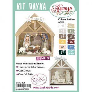 Kit DIY Dayka Belén, casita y estrella