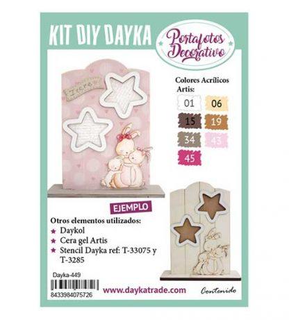 Kit DIY Dayka Portafoto mamá coneja y estrellas