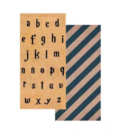Papel letras minúsculas Harry Potter