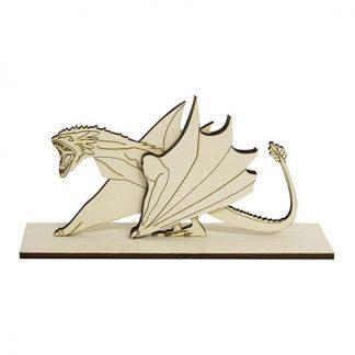 Dragón con peana madera Juego de Tronos