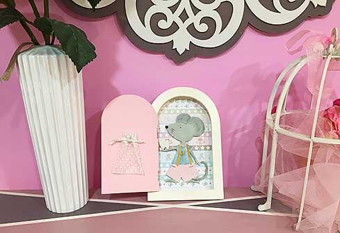 Puerta del ratón Pérez rosa