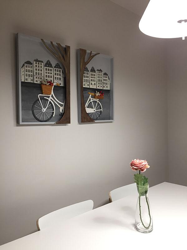 Cuadros bicicleta de madera