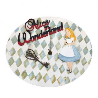 Percha de madera Alice in Wonderland